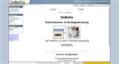 Preview of debege.de