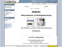 Tablet Preview of debege.de